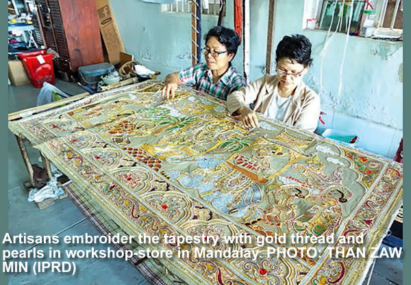 Gold embroidery industry remains alive in Mandalay