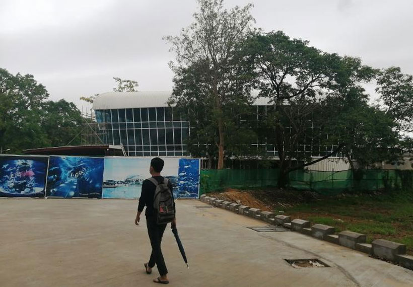 The first aquatic museum of Myanmar will complete in December